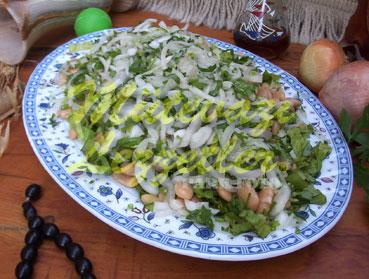 Салат – Пиаз с Фасолью