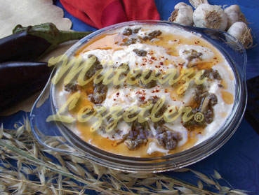 Kebab With Yogurt And Eggplant
