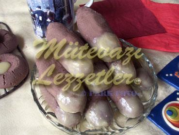 Dedo de la mano en forma de galletas con cacao