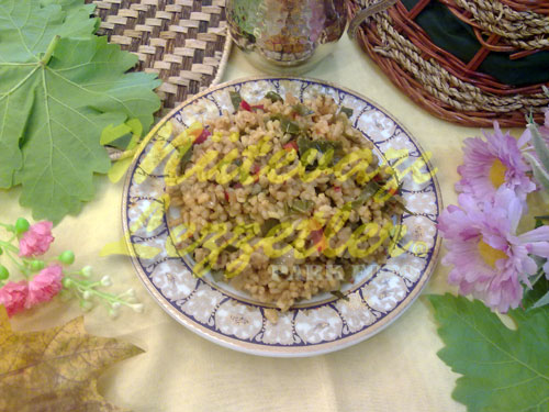 Asma Yapraklı Bulgur Pilavı (fotoğraf)