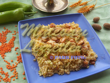 Bulgur Pilaf with Almond