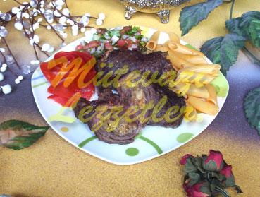 Gefüllte Beefsteak