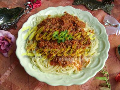 Spaghetti con sugo di Bolognese