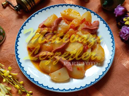 Büfe Sosisli Patates (fotoğraf)