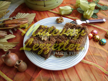 Kadayif Dessert with Chocolate