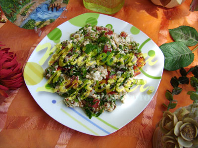 Çökelek Salatası (fotoğraf)