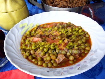 Green Peas with Meat
