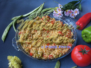 Bulgur Pilaf with Green Beans