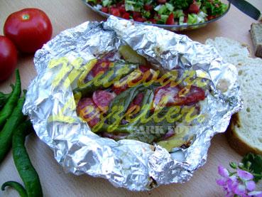 Fırında Pastırmalı Patates (fotoğraf)