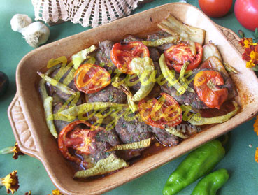 Fırında Patlıcanlı Köfte (fotoğraf)