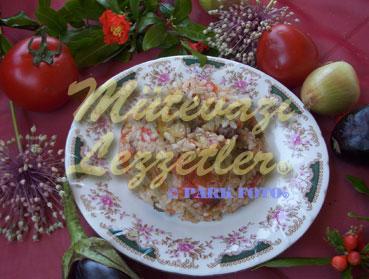 Fırında Patlıcanlı Pilav