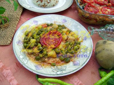 Fırında Tavuklu Bezelye (fotoğraf)