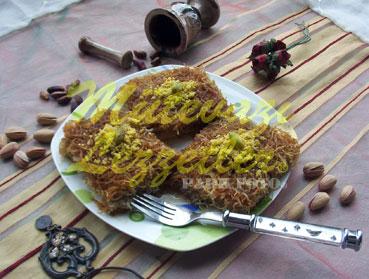 Gaziantep ciudad cadayif con pistachos