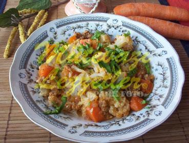 Цветная капуста с морковью