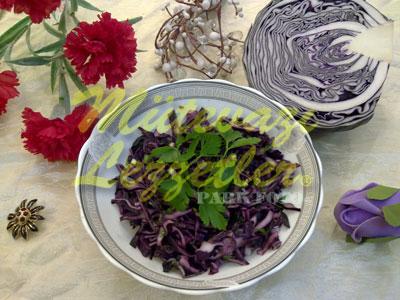Kırmızı Lahana Salatası (fotoğraf)