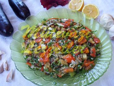 Salat mit Gegrillten Zutaten