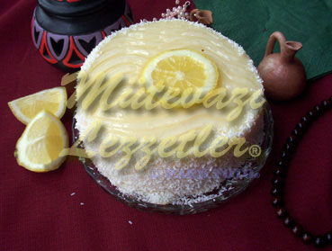Cream Cake with Lemon