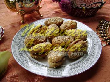 Biskuit mit Marmelade