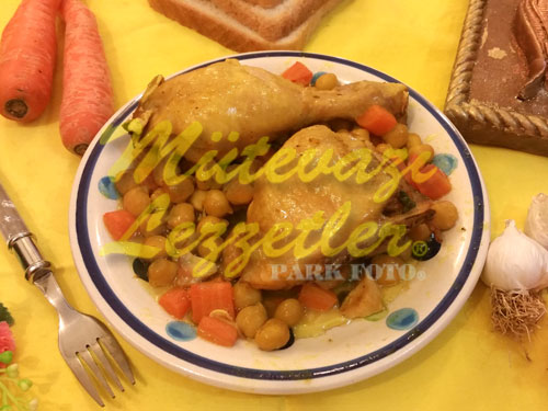 Nohutlu Sarı Tavuk (fotoğraf)