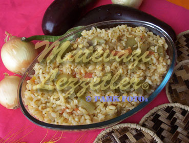 Bulgur Pilaf with Eggplant