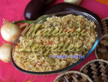 Bulgur Pilaf with Eggplant