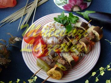 Kebab Brochette aux Aubergines