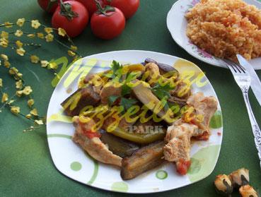 Patlıcanlı Tavuk Sote