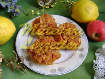 Десерт из айвы с древесной смолой