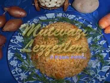 Bulgur pilaf con verduras