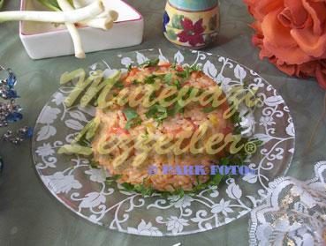 Reis mit Würstchen