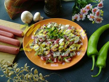 Salad with Sausage