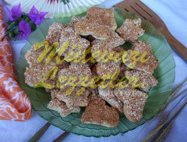 Лимоные печенья в кунжуте