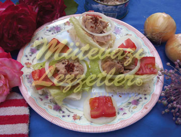 Canapés with Tuna Fish