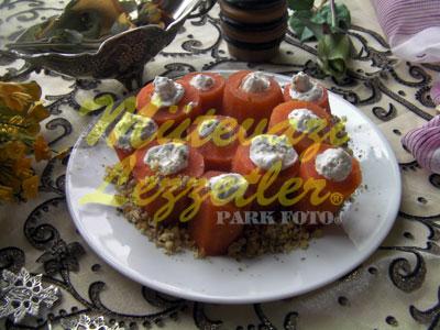Десерт из фаршированной моркови