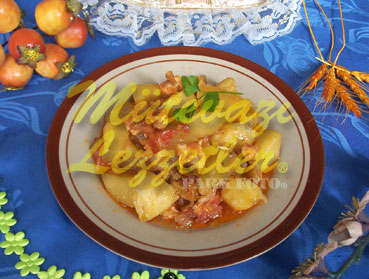 Kartoffel mit Hühnerfleisch