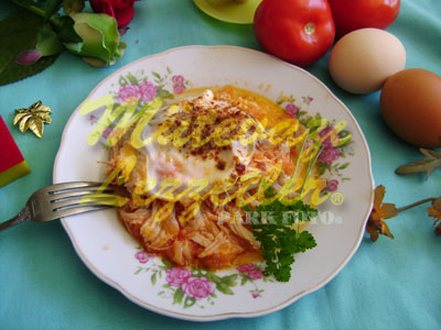 Fried Eggs with Chicken