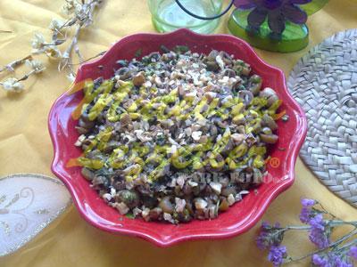 Салат с маслинами