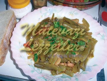 Frijoles con aceite de oliva