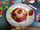 Десерт из манки с клубникой
