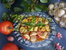 Hühnerfleisch mit Tomaten
