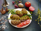 Baked Meat and Rice Croquettes