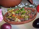 Kalbsfleisch im Schmortopf
