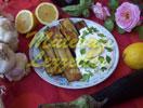 Gebratene Auberginen mit Zitronensaft
