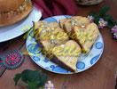 Pastel de harina de maíz con queso
