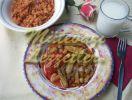 Bamia mit Kichererbsen