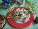 Reis mit Pöckelfleisch