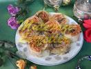 Capullos de rosa con la patata de llenado