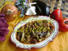 Тушенные баклажаны с мясом