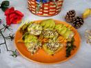 Gefüllte Zucchini mit Käse