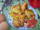Gebratene Blumenkohl mit Käse